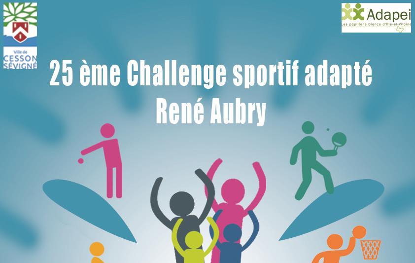 Affiche du 25ème Challenge sportif adapté René Aubry