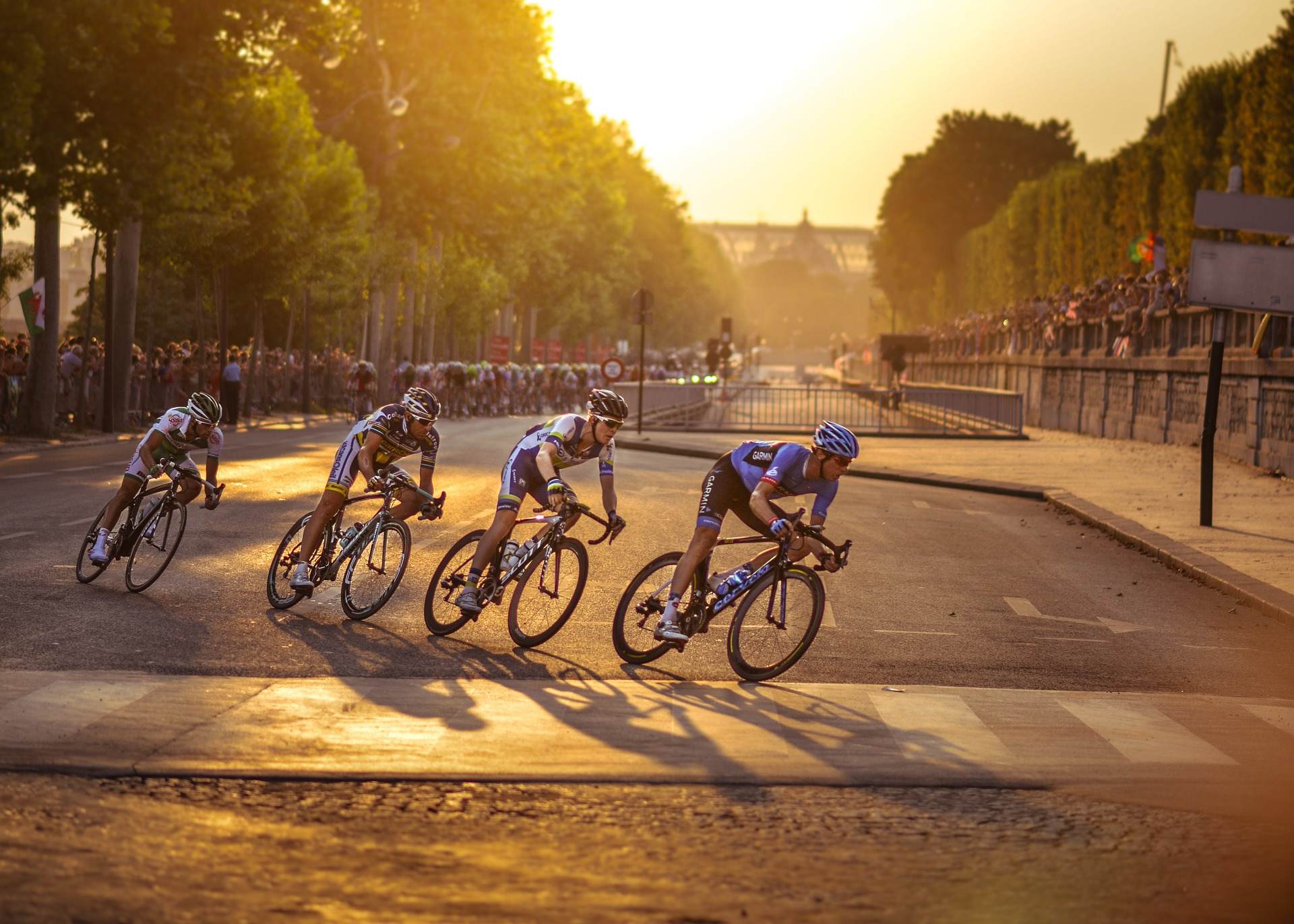 Course de cyclisme à Paris