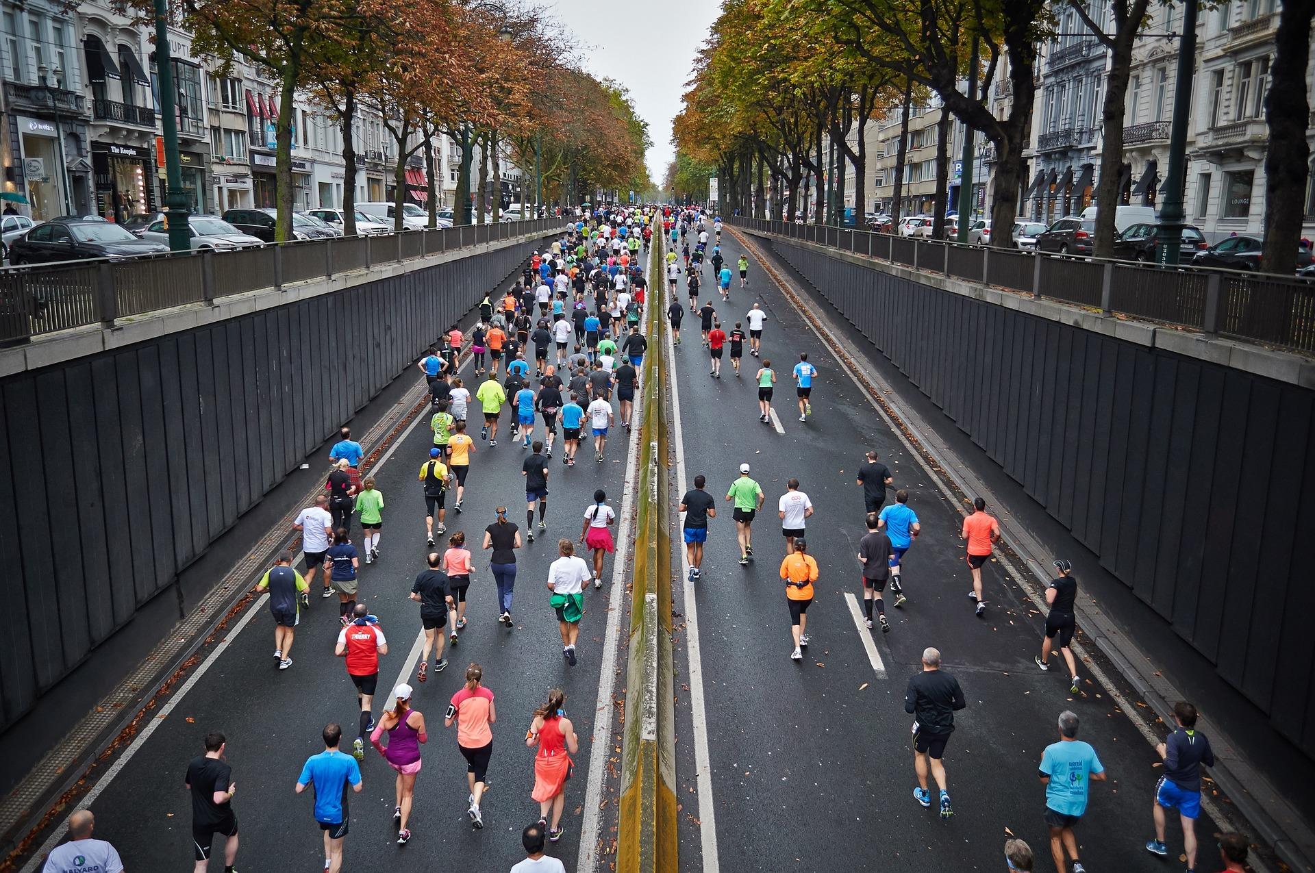Marathon dans les rues de Paris