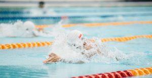 Exemple de l'epreuve de natation avec un nageur